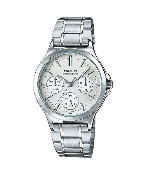 CASIO MULTI-HAND LADY S.STEEL LTP-V300D-7A