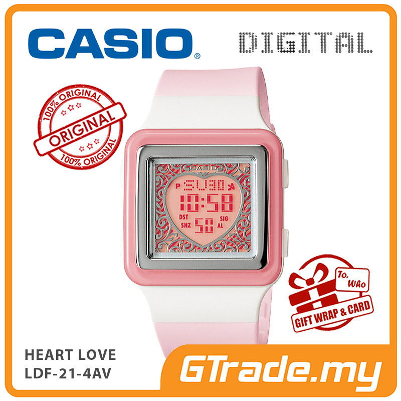 CASIO POPTONE LDF-21-4AV Kids / Ladies Digital Watch | Cute Color