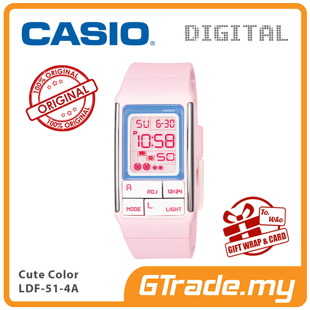 CASIO POPTONE LDF-51-4A Kids / Ladies Digital Watch | Cute Color