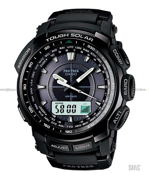 CASIO PRG-510-1 Pro Trek alti-baro-thermo solar resin strap black