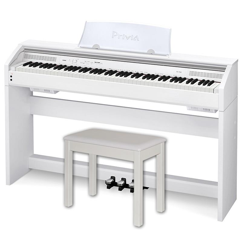 Casio Privia PX 750 WE White Digital piano 88 key AiR FREE Chair