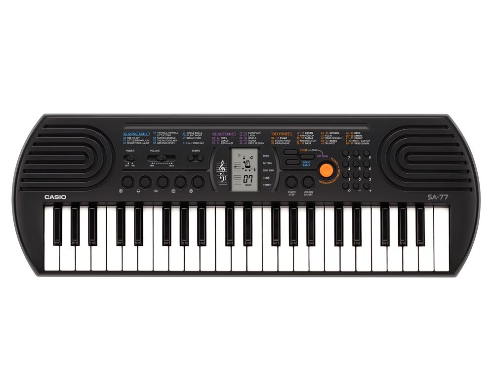 Casio SA-77 Grey Color High Grade 44 Keys Entry Level Mini Keyboard
