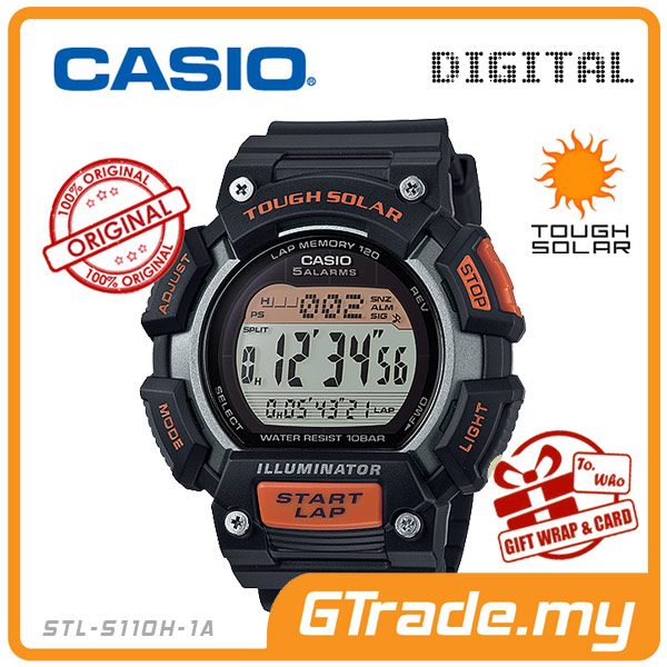 CASIO SPORTS STL-S110H-1A Digital Watch | Train Running Track & field