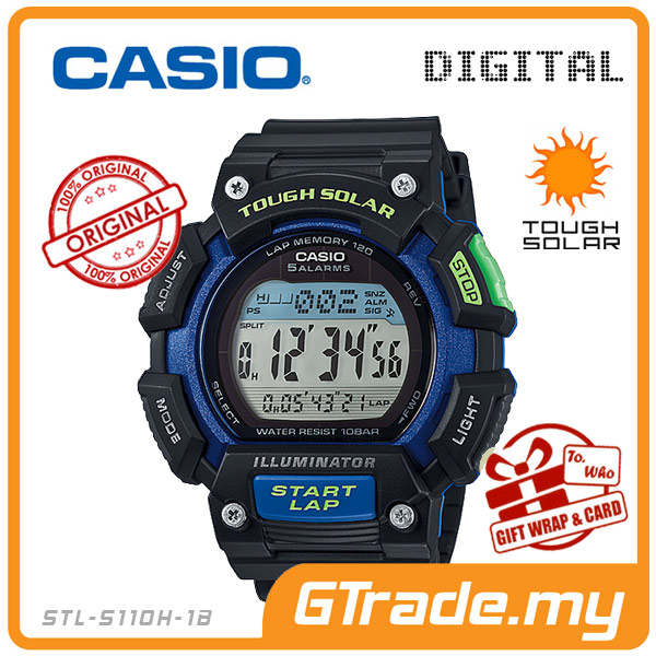 CASIO SPORTS STL-S110H-1B Digital Watch | Train Running Track & field