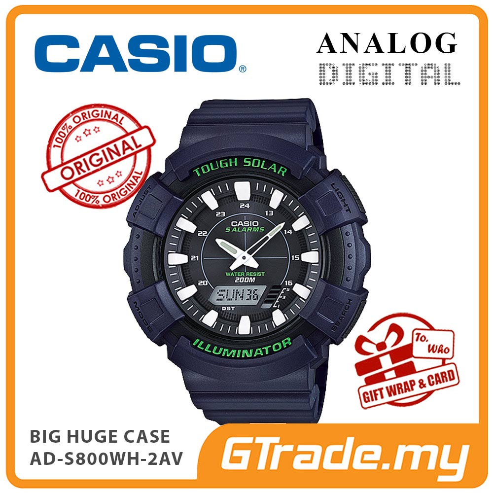 CASIO STANDARD AD-S800WH-2AV Analog Digital Watch | BIG Case Solar