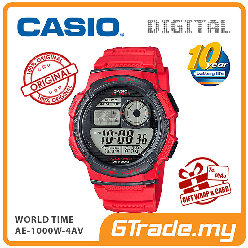CASIO STANDARD AE-1000W-4AV Digital Watch | 10 Yrs Batt. WR100M