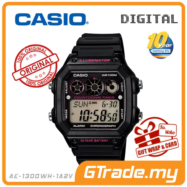 CASIO STANDARD AE-1300WH-1A2V Digital Watch | 10Y Batt. Interval.T