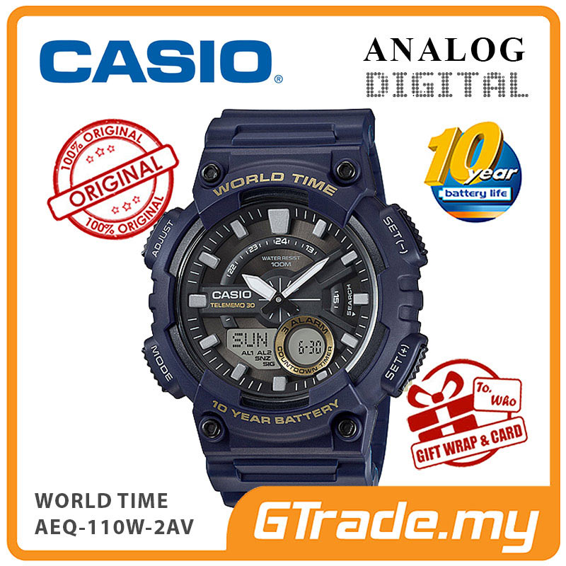 CASIO STANDARD AEQ-110W-2AV Analog Digital Watch | 10 Years Battery