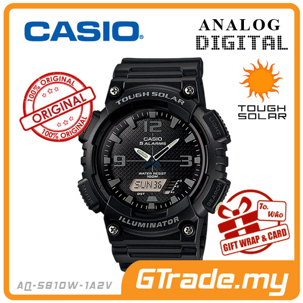 CASIO STANDARD AQ-S810W-1A2V Analog Digital Watch | Solar World.T