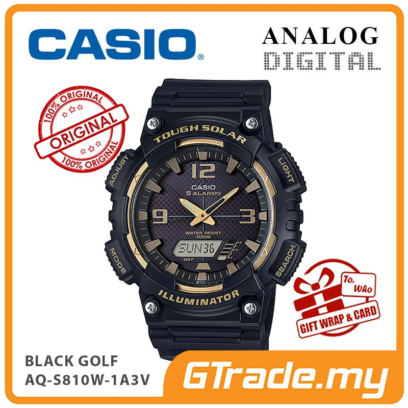 CASIO STANDARD AQ-S810W-1A3V Analog Digital Watch | Solar World.T