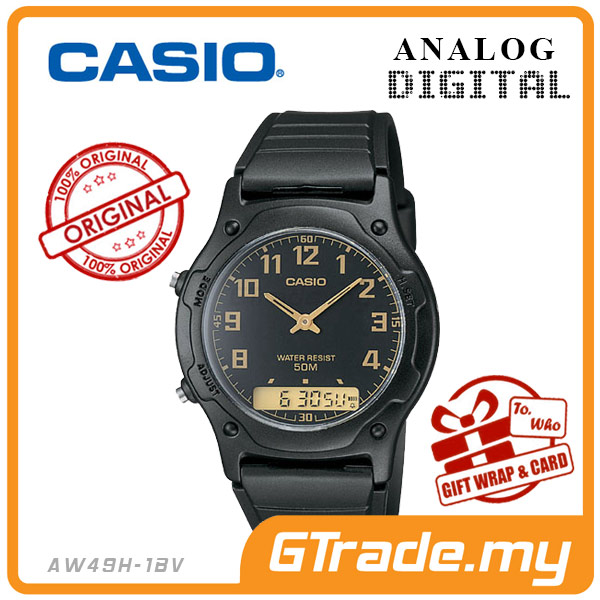 CASIO STANDARD AW49H-1BV Analog Digital Watch | Classic Dual Time