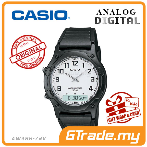 CASIO STANDARD AW49H-7BV Analog Digital Watch | Classic Dual Time