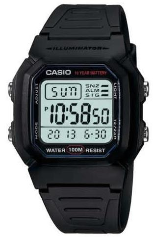 CASIO STANDARD Digital Watch W-800H-1A