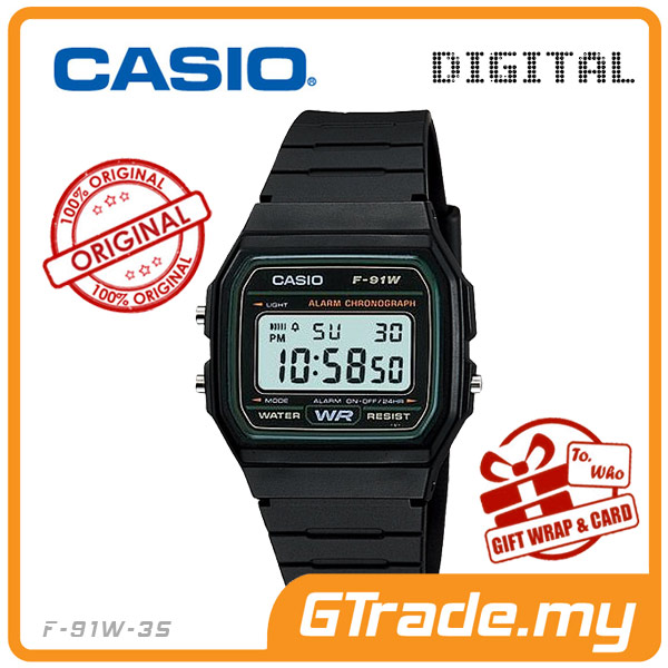CASIO STANDARD F-91W-3S Digital Watch | Classic Since 1991 Calendar