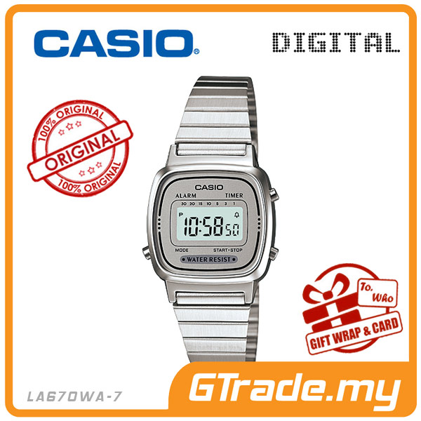 CASIO STANDARD LA670WA-7 Digital Ladies Watch | Retro New Color Alarm