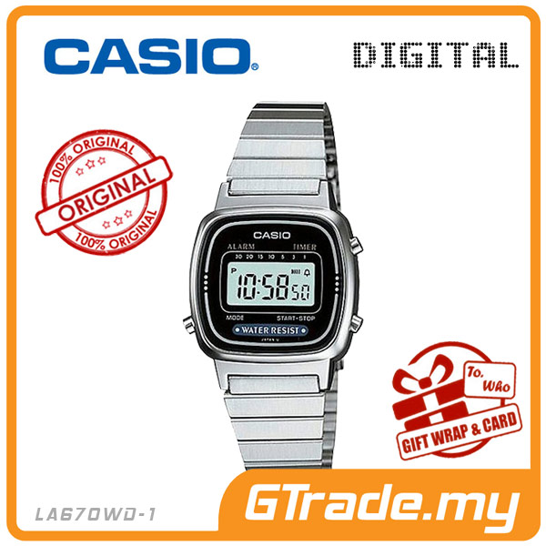 CASIO STANDARD LA670WD-1 Digital Ladies Watch | Retro New Color Alarm