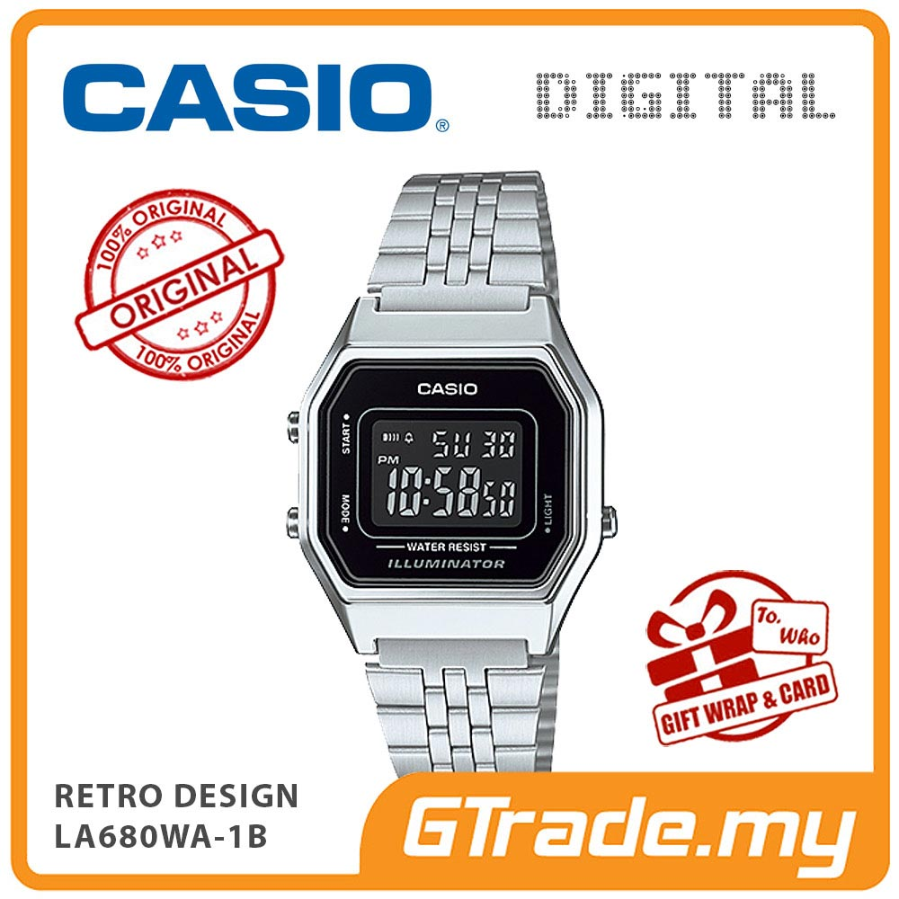 CASIO STANDARD LA680WA-1B Digital Ladies Watch | Retro New Color Alarm