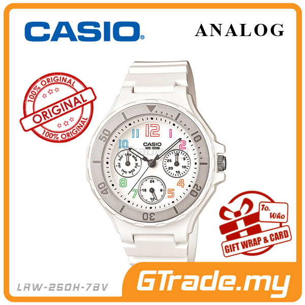 CASIO STANDARD LRW-250H-7BV Analog Ladies Watch | Date Display 24Hrs