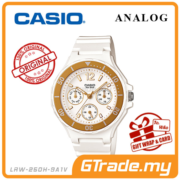 CASIO STANDARD LRW-250H-9A1V Analog Ladies Watch | Date Display 24Hrs