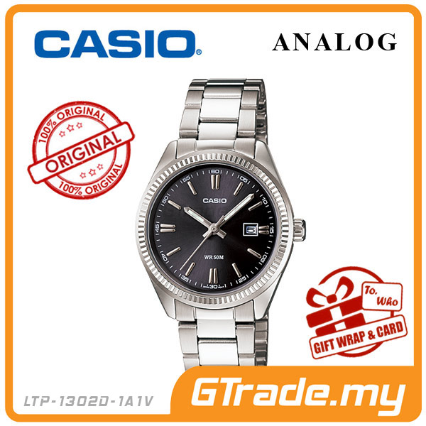 CASIO STANDARD LTP-1302D-1A1V Analog Ladies Watch | Date Display WR50m