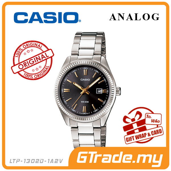 CASIO STANDARD LTP-1302D-1A2V Analog Ladies Watch | Date Display WR50m