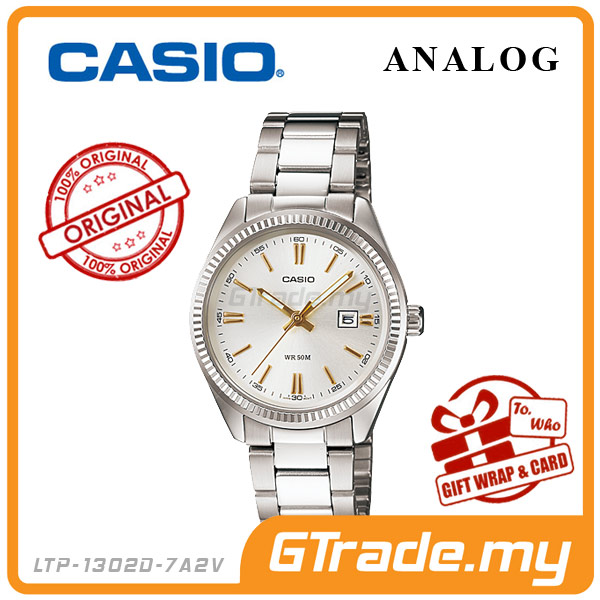 CASIO STANDARD LTP-1302D-7A2V Analog Ladies Watch |Date Display WR50m