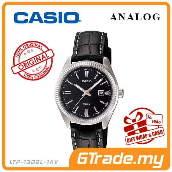 CASIO STANDARD LTP-1302L-1AV Analog Ladies Watch | Date Display WR50m