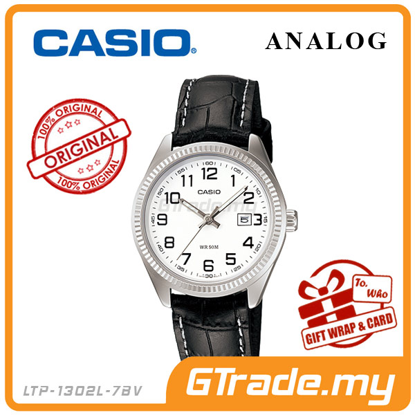 CASIO STANDARD LTP-1302L-7BV Analog Ladies Watch | Date Display WR50m
