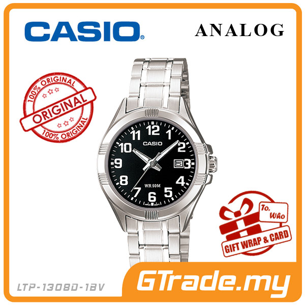 CASIO STANDARD LTP-1308D-1BV Analog Ladies Watch | Date Display WR50m