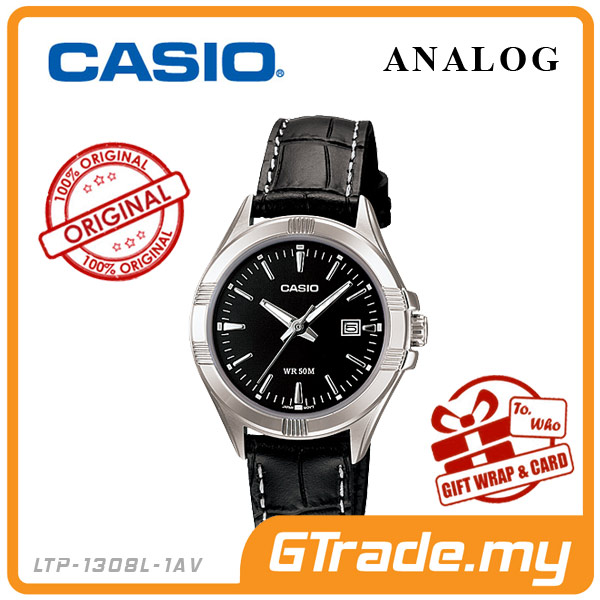 CASIO STANDARD LTP-1308L-1AV Analog Ladies Watch | Date Display WR50m