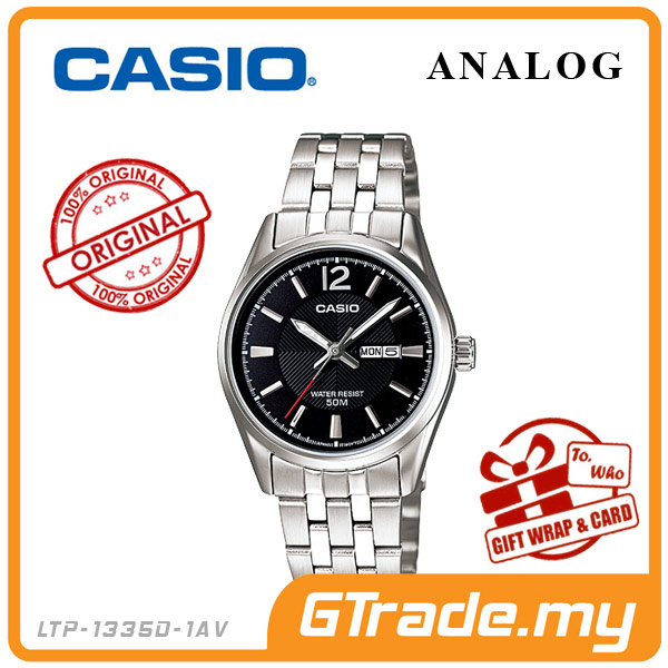 CASIO STANDARD LTP-1335D-1AV Analog Ladies Watch | Day Date Display