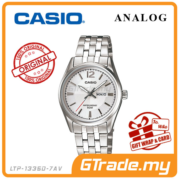 CASIO STANDARD LTP-1335D-7AV Analog Ladies Watch | Day Date Display