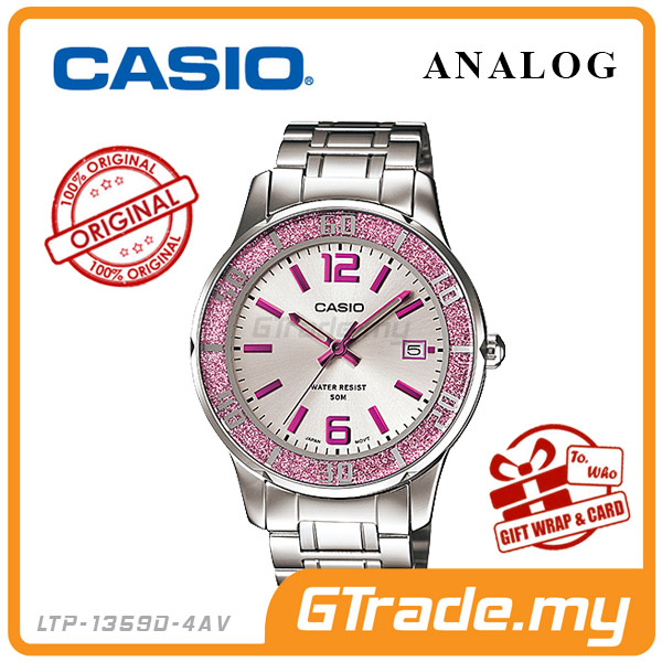CASIO STANDARD LTP-1359D-4AV Analog Ladies Watch | Sprinkled Bezel