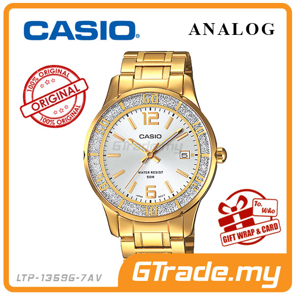 CASIO STANDARD LTP-1359G-7AV Analog Ladies Watch | Sprinkled Bezel