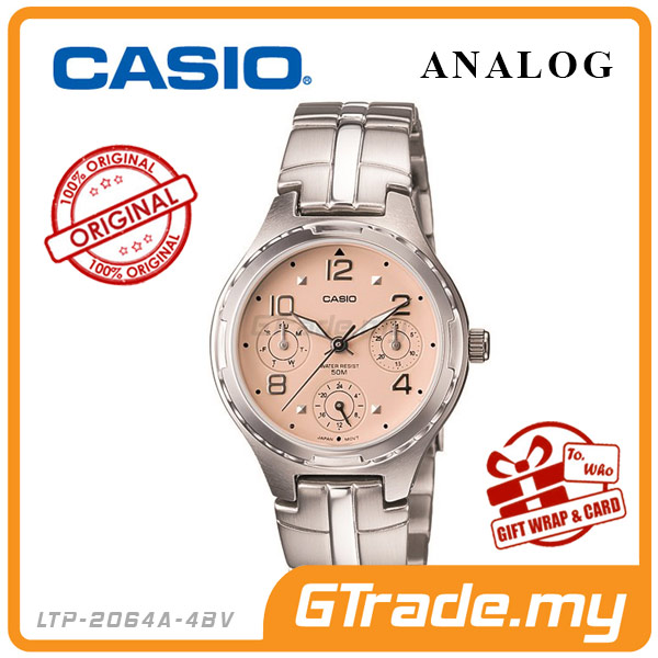 CASIO STANDARD LTP-2064A-4AV Analog Ladies Watch | Multi-Hand 50M WR