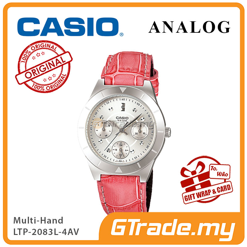 CASIO STANDARD LTP-2083L-4AV Analog Ladies Women Watch | Multi-Hand