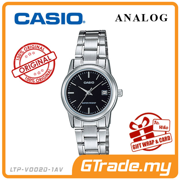 CASIO STANDARD LTP-V002D-1AV Analog Ladies Watch | Date Display WR