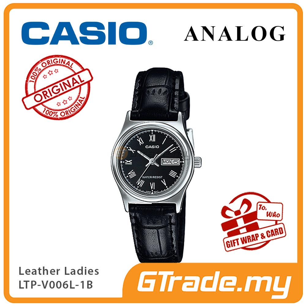 CASIO STANDARD LTP-V006L-1BV Analog Ladies Watch | Leather Day Date