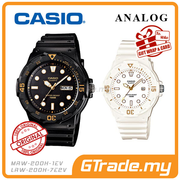 CASIO STANDARD MRW-200H-1EV & LRW-200H-7E2V Analog Couple Watch