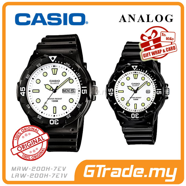 CASIO STANDARD MRW-200H-7EV & LRW-200H-7E1V Analog Couple Watch