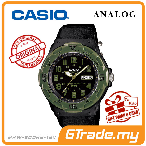 CASIO STANDARD MRW-200HB-1BV Analog Mens Watch | Day Date Display