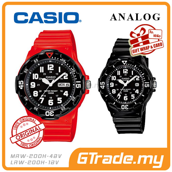 CASIO STANDARD MRW-200HC-4BV & LRW-200H-1BV Analog Couple Watch