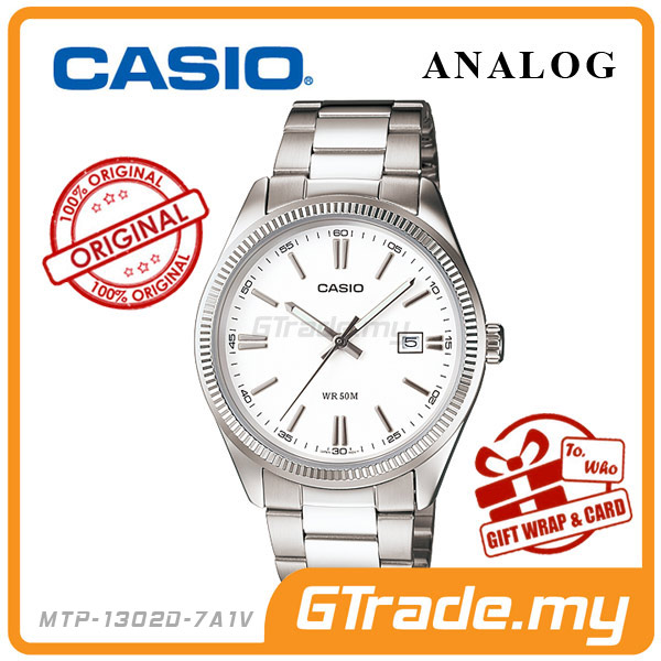 CASIO STANDARD MTP-1302D-7A1V Analog Mens Watch | Date Display WR50m
