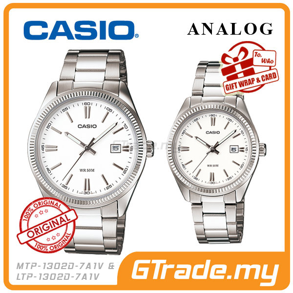 CASIO STANDARD MTP-1302D-7A1V & LTP-1302D-7A1V Analog Couple Watch