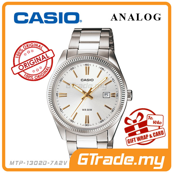 CASIO STANDARD MTP-1302D-7A2V Analog Mens Watch | Date Display WR50m