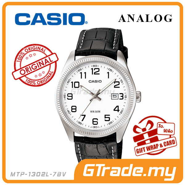 CASIO STANDARD MTP-1302L-7BV Analog Mens Watch | Date Display WR50m