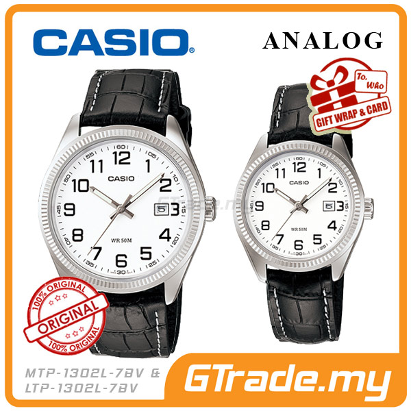 CASIO STANDARD MTP-1302L-7BV & LTP-1302L-7BV Analog Couple Watch