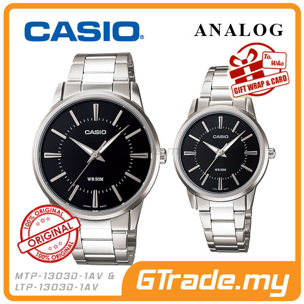 CASIO STANDARD MTP-1303D-1AV & LTP-1303D-1AV Analog Couple Watch