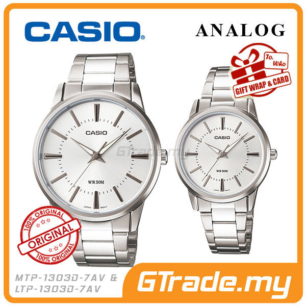 CASIO STANDARD MTP-1303D-7AV & LTP-1303D-7AV Analog Couple Watch