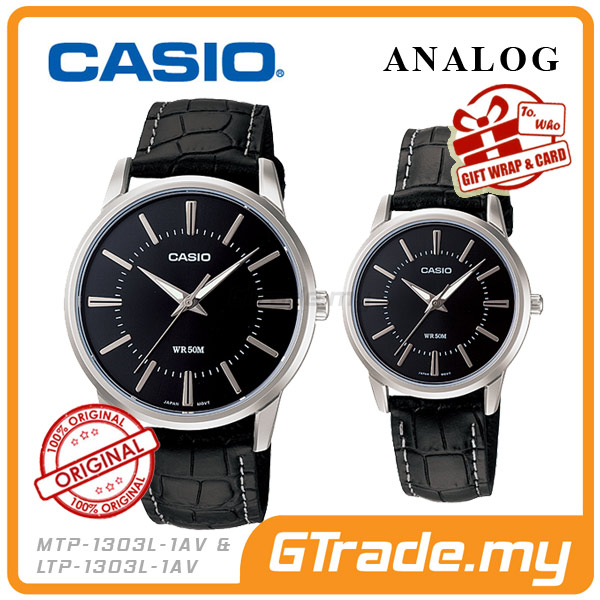 CASIO STANDARD MTP-1303L-1AV & LTP-1303L-1AV Analog Couple Watch